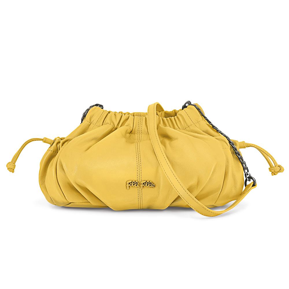 FOLLI FOLLIE - Γυναικεία τσάντα FOLLI FOLLIE κίτρινη γυναικεία αξεσουάρ τσάντες σακίδια ωμου