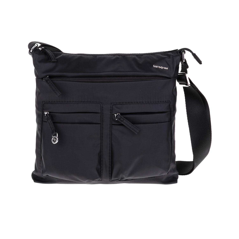 SAMSONITE – Τσάντα ώμου FLAT SHOULDER BAG IPAD μαύρη 1543216.0-0000