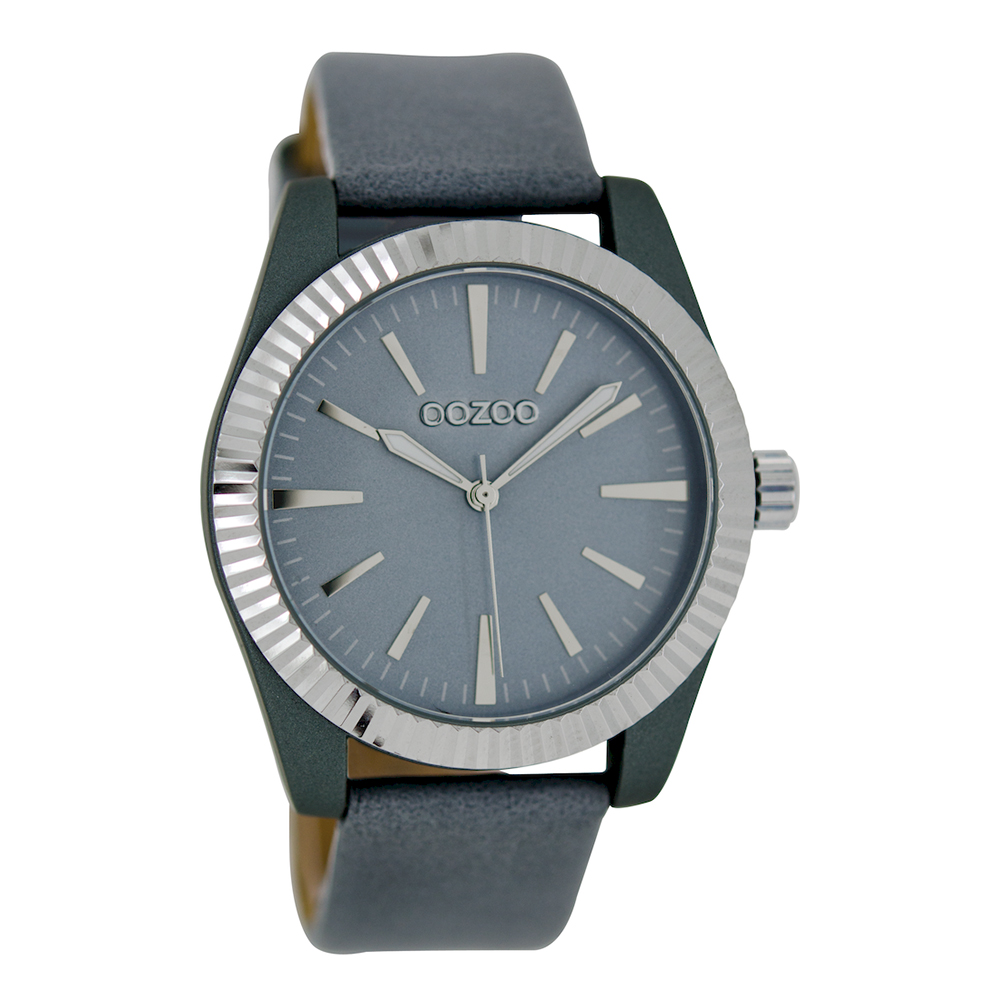 OOZOO - Γυναικείο ρολόι OOZOO γκρι γυναικεία αξεσουάρ ρολόγια δερμάτινα