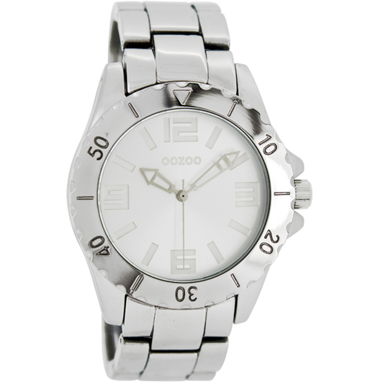 OOZOO - Γυναικείο ρολόι OOZOO ασημί γυναικεία αξεσουάρ ρολόγια μπρασελέ