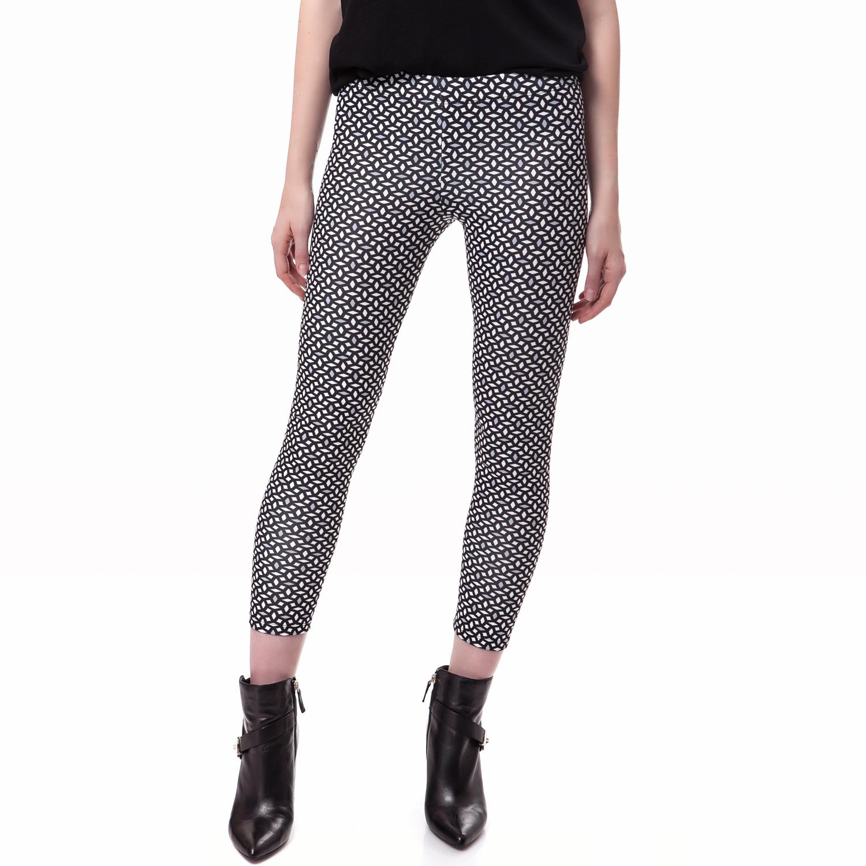 FEEL CUTE - Γυναικείο κολάν Feel Cute λευκό-μαύρο γυναικεία ρούχα παντελόνια κολάν