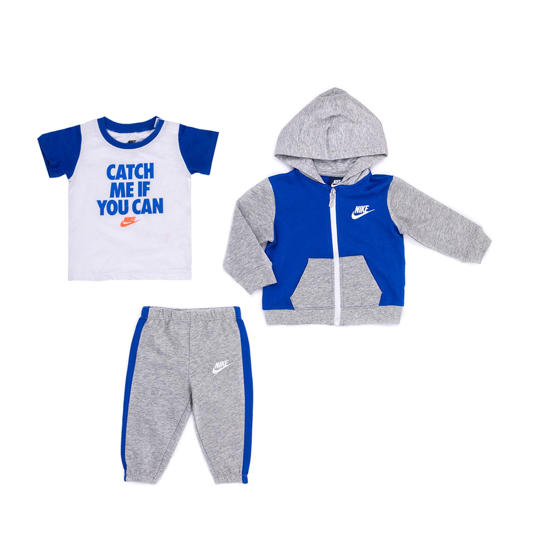 NIKE KIDS – Βρεφικό σετ NIKE γκρι-μπλε
