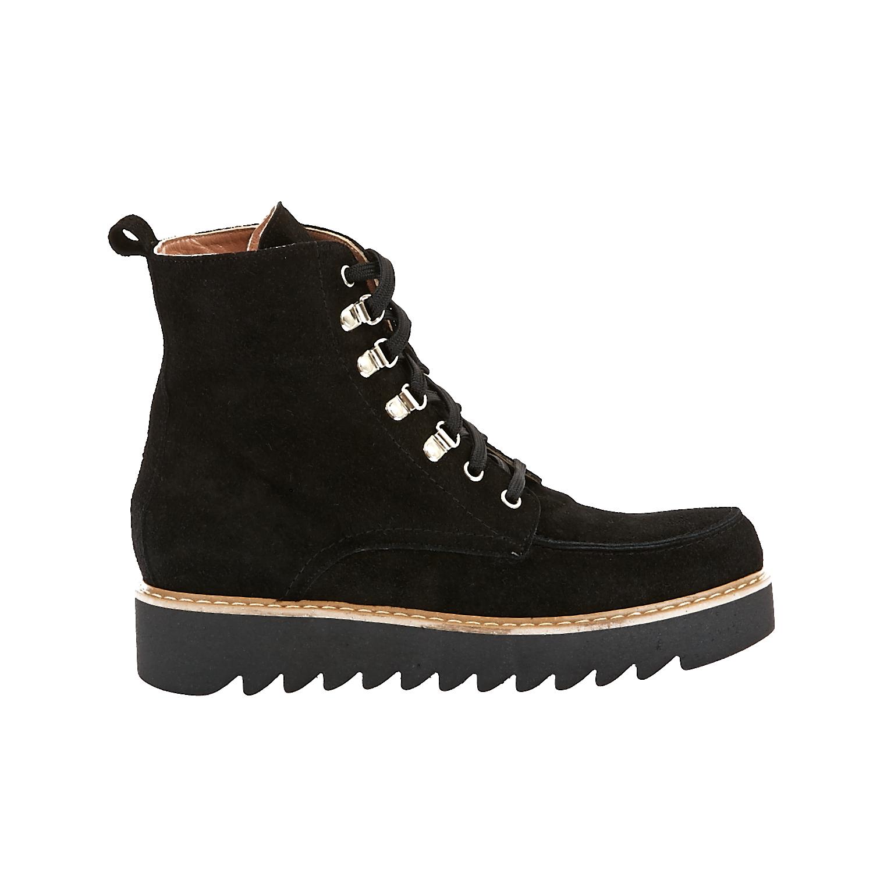 CHANIOTAKIS - Γυναικεία μποτάκια Chaniotakis μαύρα γυναικεία παπούτσια μπότες μποτάκια μποτάκια