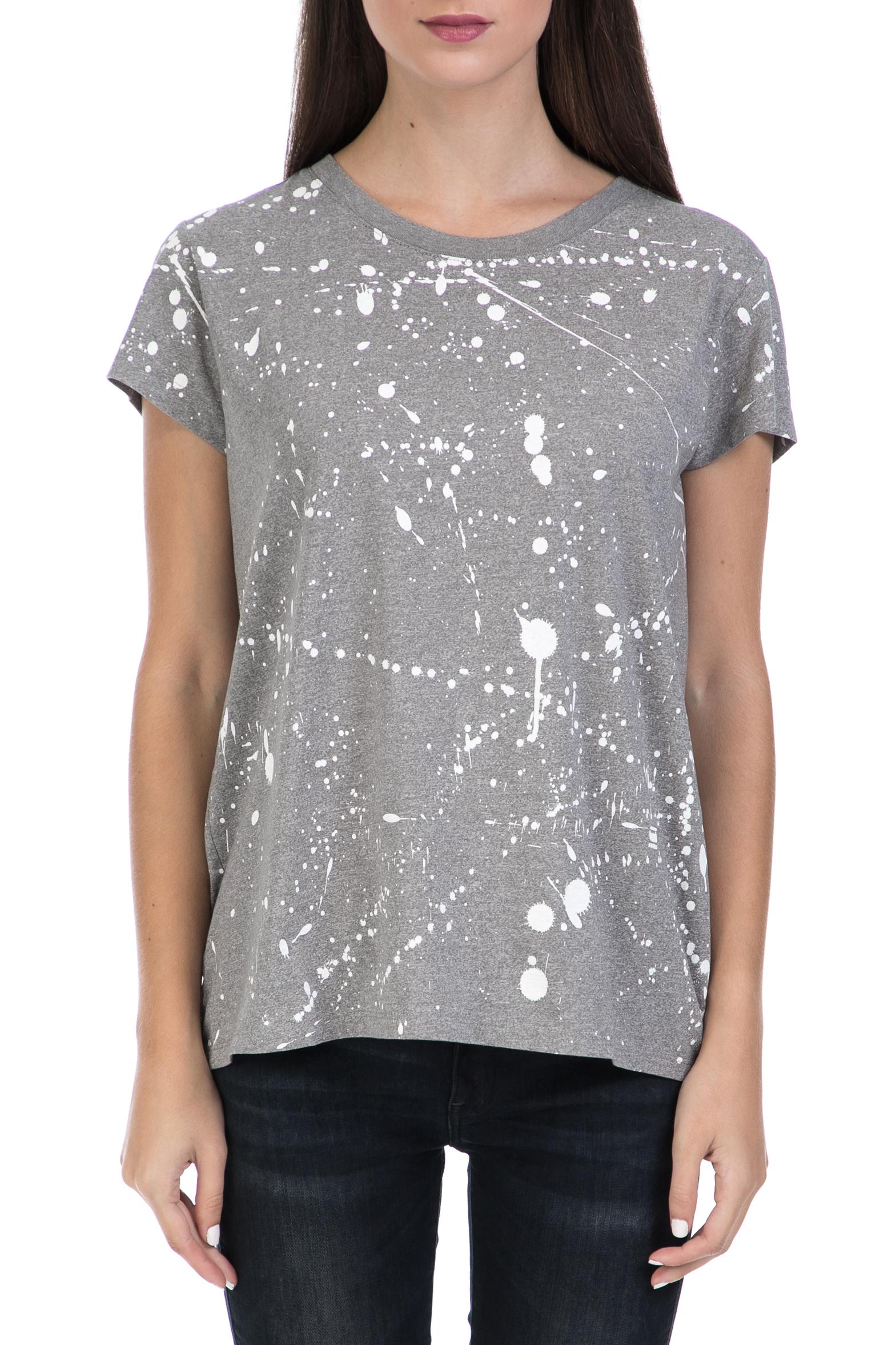 9ac760a47f G-STAR RAW – Γυναικεία μπλούζα Luuto splatter straight γκρι