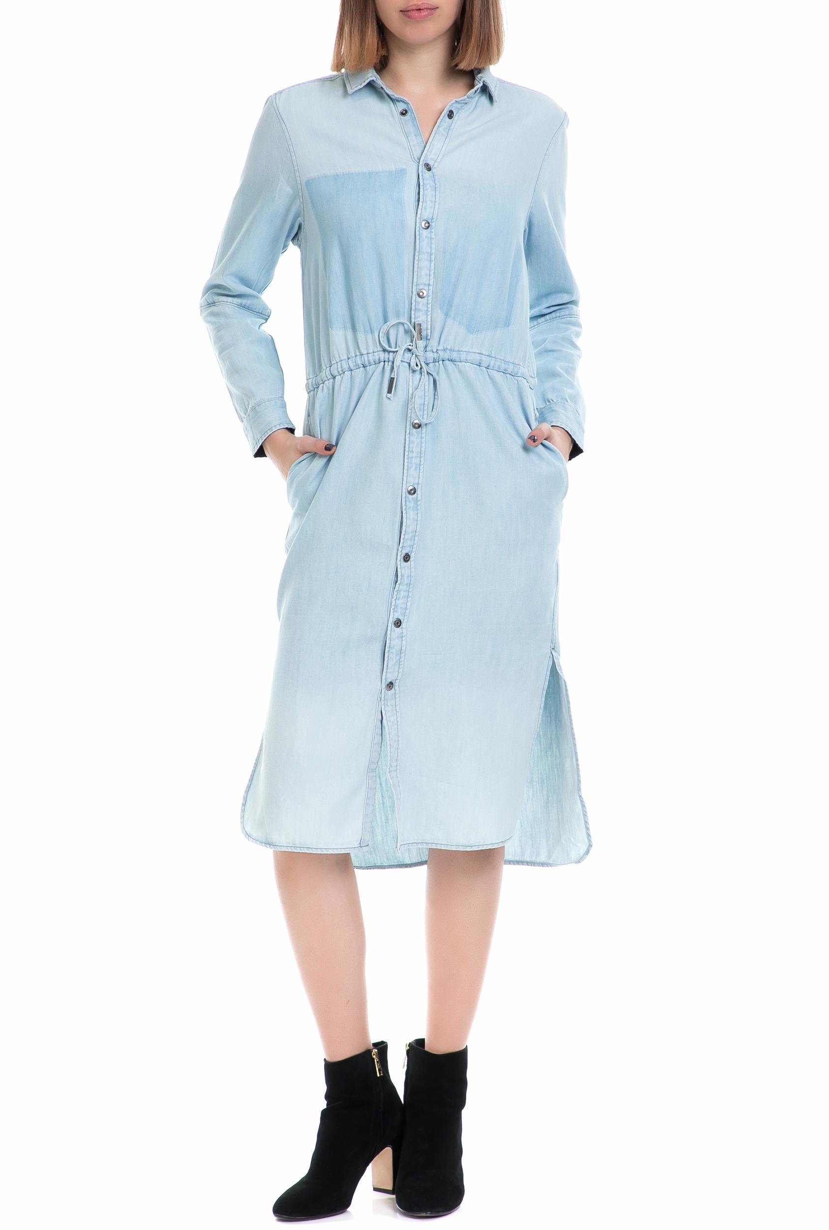 G-STAR RAW - Γυναικείο τζιν φόρεμα Modern Arc 3D G-STAR μπλε γυναικεία ρούχα φορέματα μέχρι το γόνατο