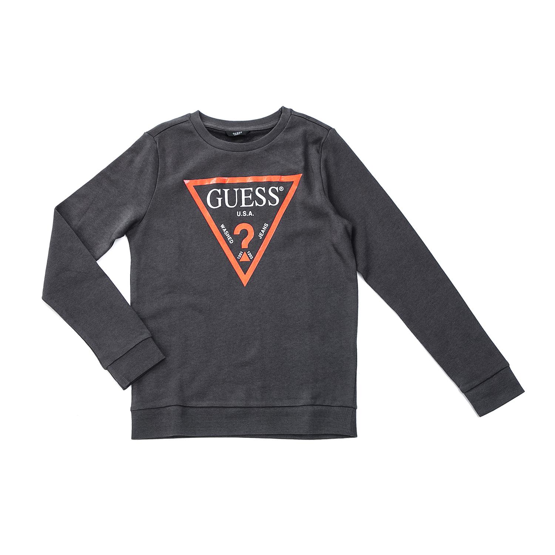 GUESS KIDS – Παιδική μπλούζα GUESS KIDS γκρι