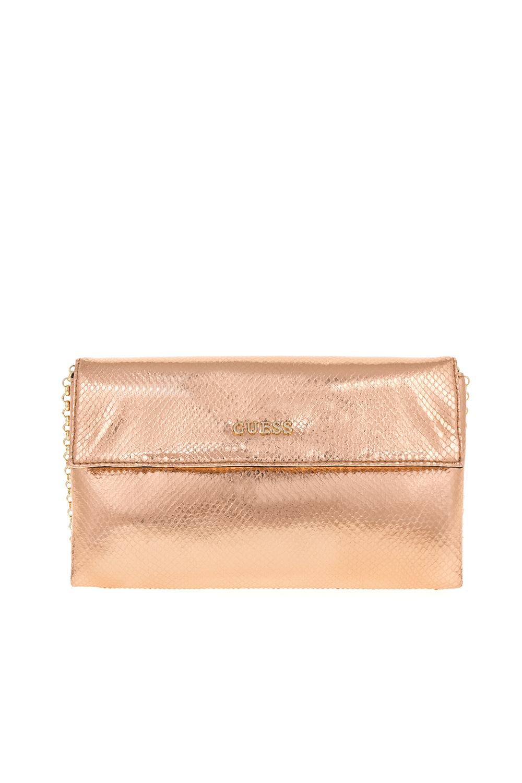GUESS – Γυναικεία τσάντα TULIP GUESS ροζ χρυσό 1549186.0-P7W1