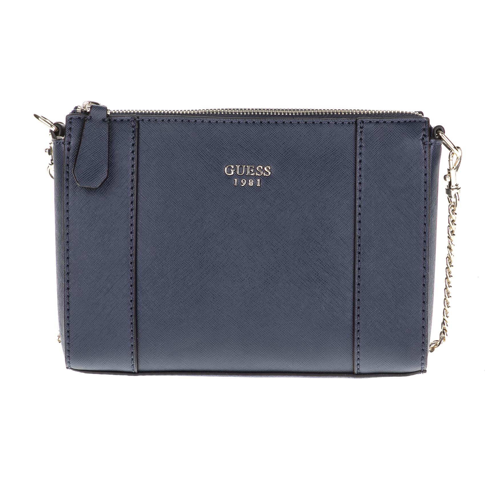 GUESS – Γυναικεία τσάντα ώμου GUESS KAMRYN μπλε 1549214.0-0016
