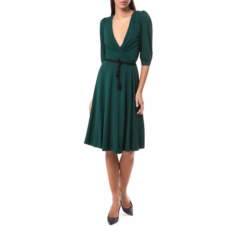MOTIVI - Γυναικείο φόρεμα MOTIVI πράσινο γυναικεία ρούχα φορέματα μέχρι το γόνατο