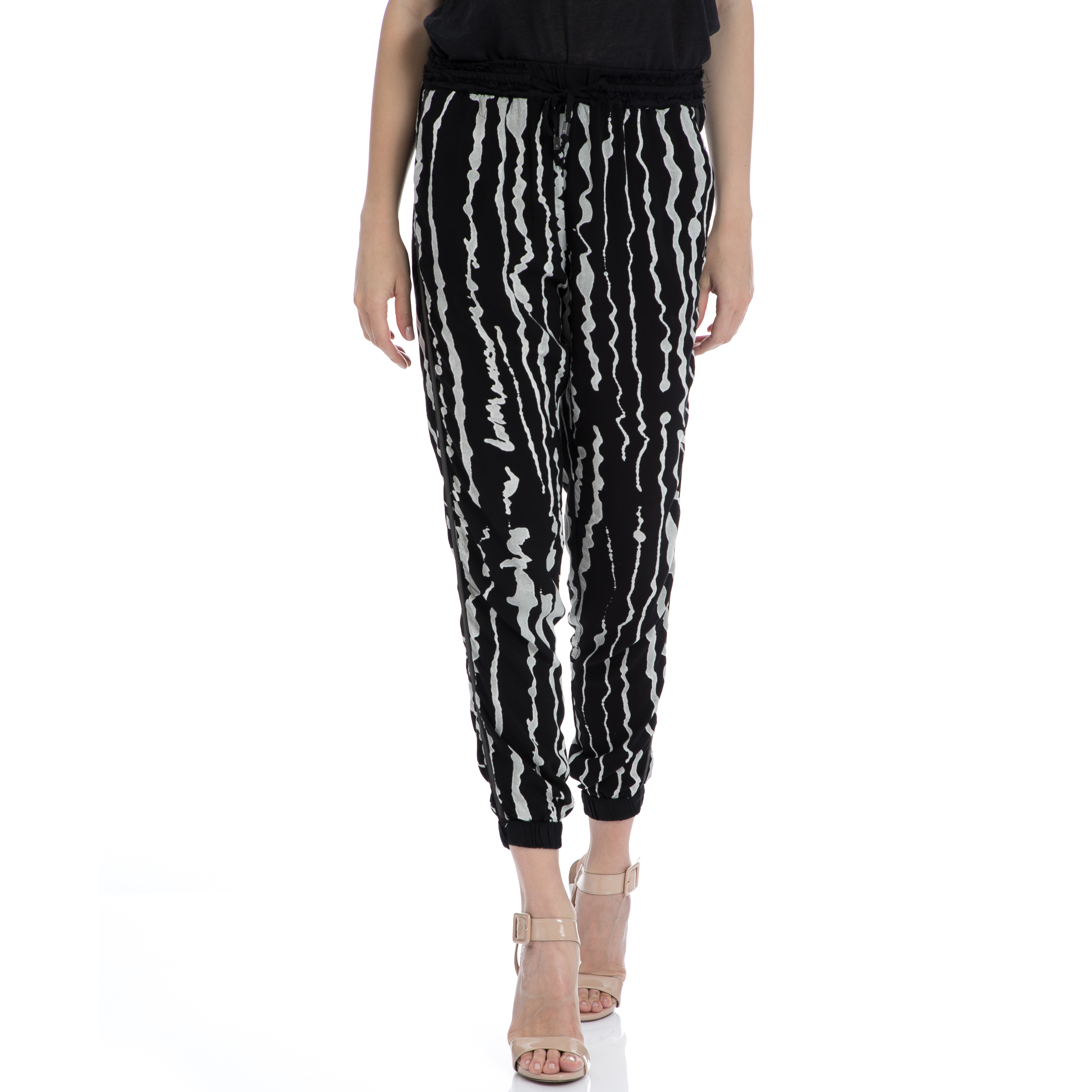 GARCIA JEANS - Γυναικείο παντελόνι Garcia Jeans μαύρο-γκρι γυναικεία ρούχα παντελόνια casual