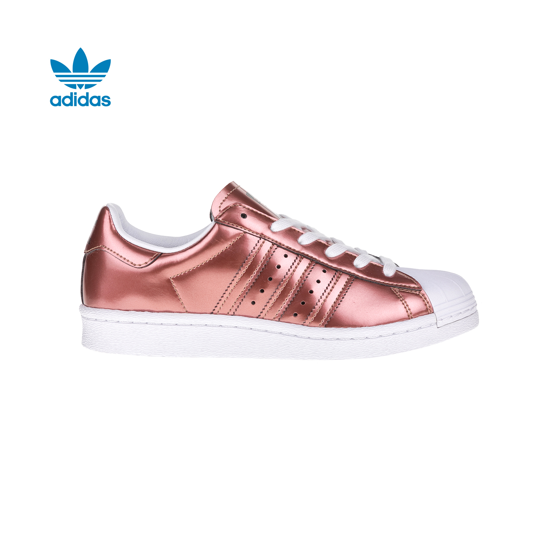 59d46a8ff29 adidas Originals - Γυναικεία sneakers adidas SUPERSTAR μεταλλικά | e ...