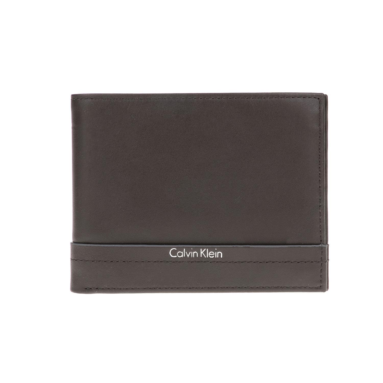 CALVIN KLEIN JEANS – Ανδρικό πορτοφόλι ELIAS BILLFOLD 8CC καφέ