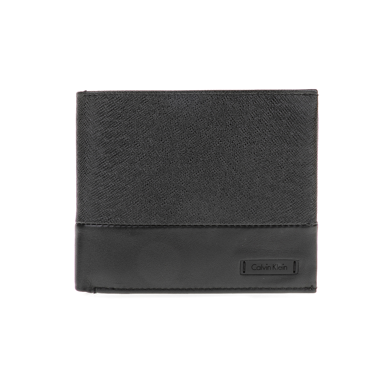 CALVIN KLEIN JEANS – Ανδρικό πορτοφόλι ADAM 10CC μαύρο