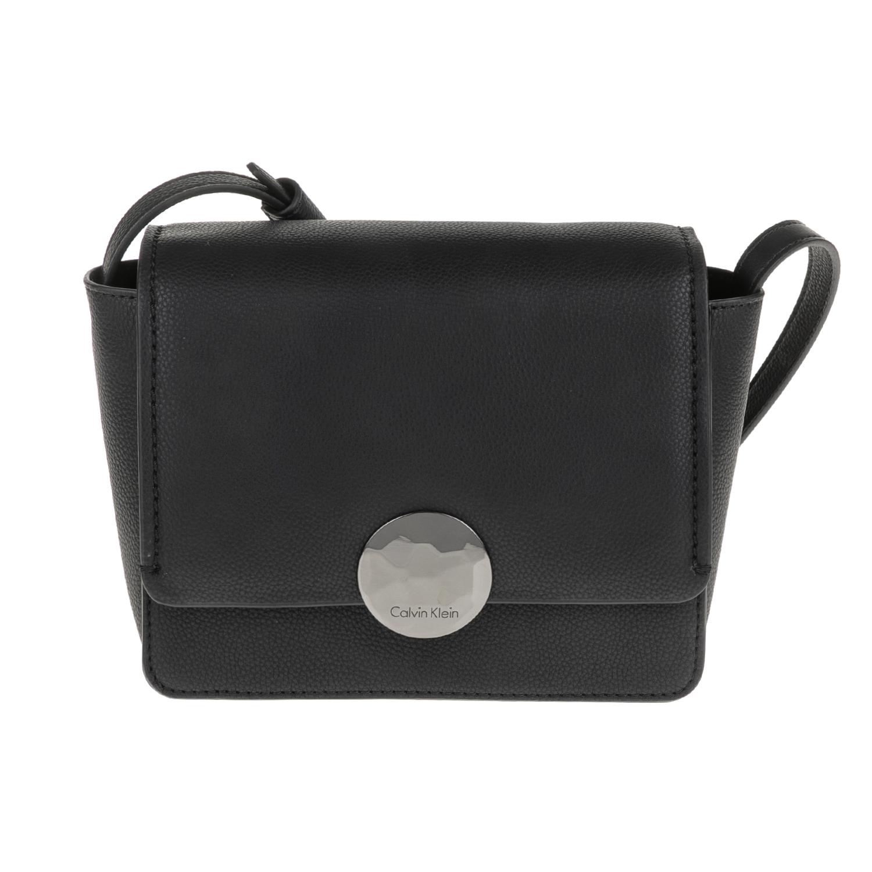 CALVIN KLEIN JEANS – Γυναικεία τσάντα ώμου -χιαστί OLIVIA FLAP CROSSBODY μαύρη