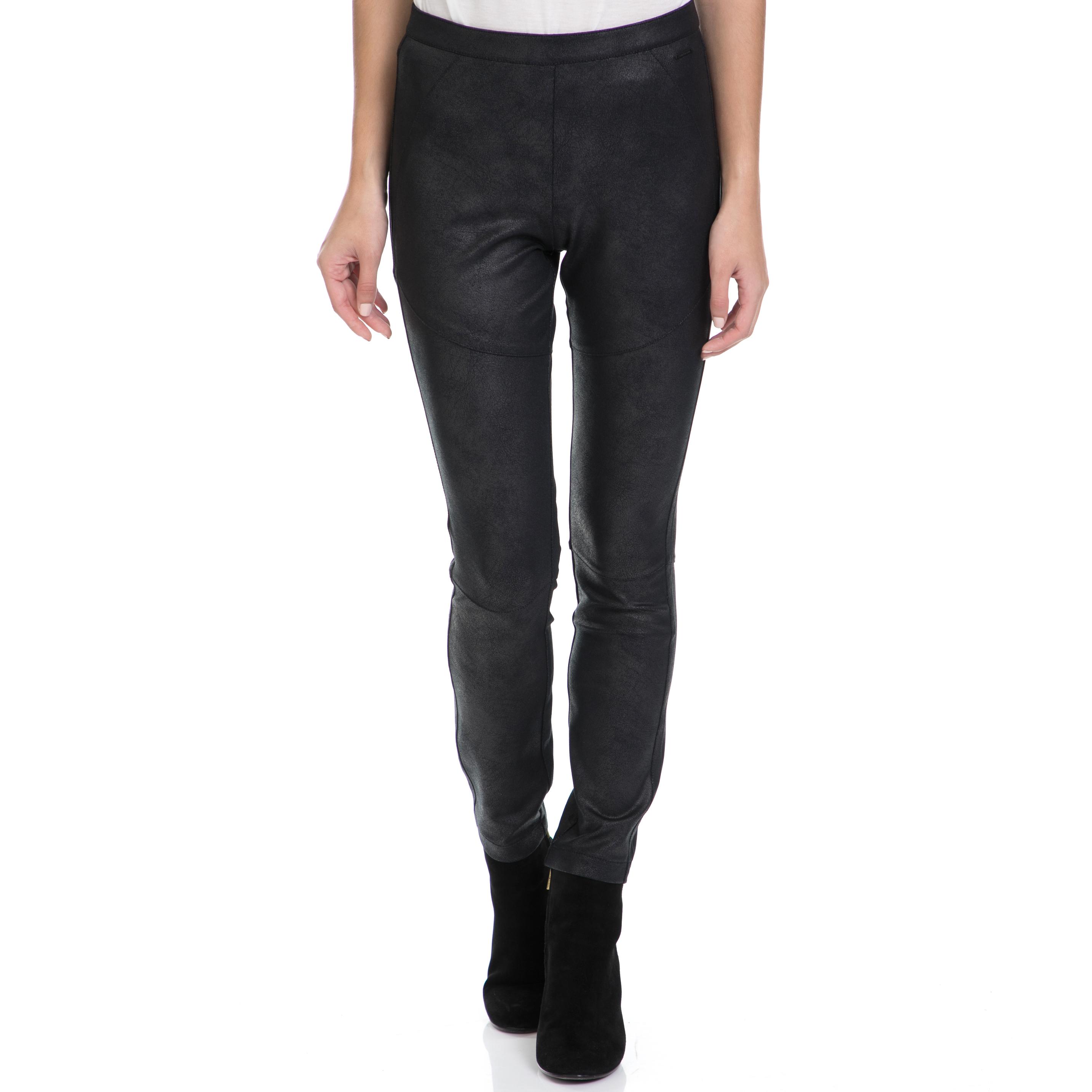 CALVIN KLEIN JEANS – Γυναικείο παντελόνι POMAR HWK COATED MILANO μαύρο