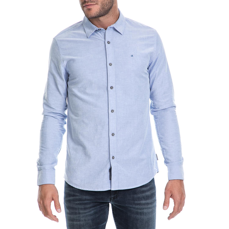 CALVIN KLEIN JEANS – Ανδρικό πουκάμισο WILBENS 1 OXFORD SHIRT μπλε