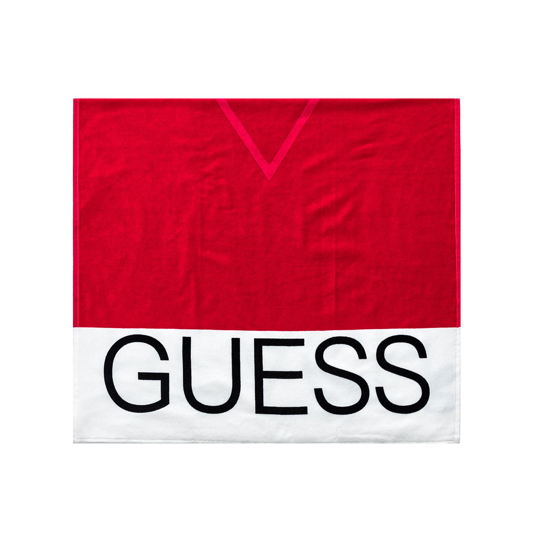 GUESS - Πετσέτα θαλάσσης GUESS κόκκινη γυναικεία αξεσουάρ πετσέτες