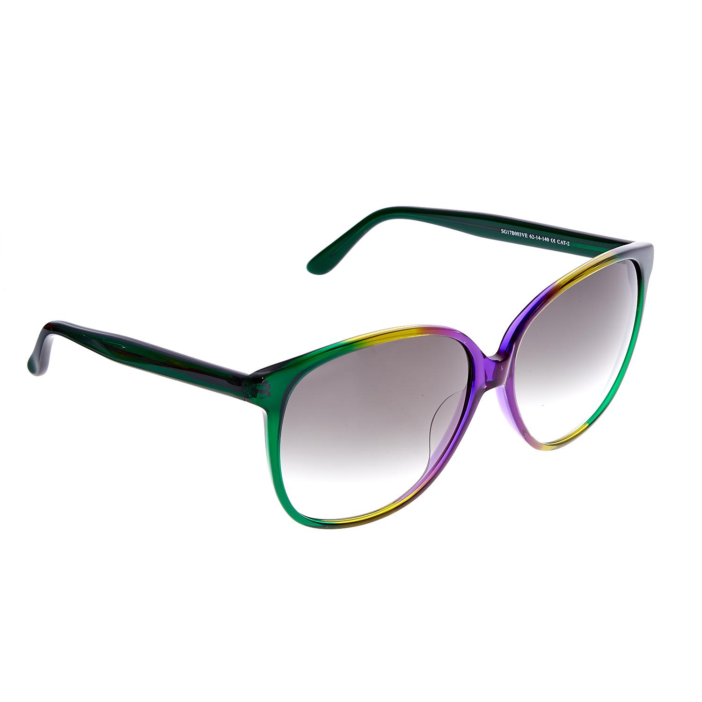 FOLLI FOLLIE - Γυναικεία γυαλιά ηλίου Folli Follie πράσινο-κίτρινο-μωβ γυναικεία αξεσουάρ γυαλιά ηλίου