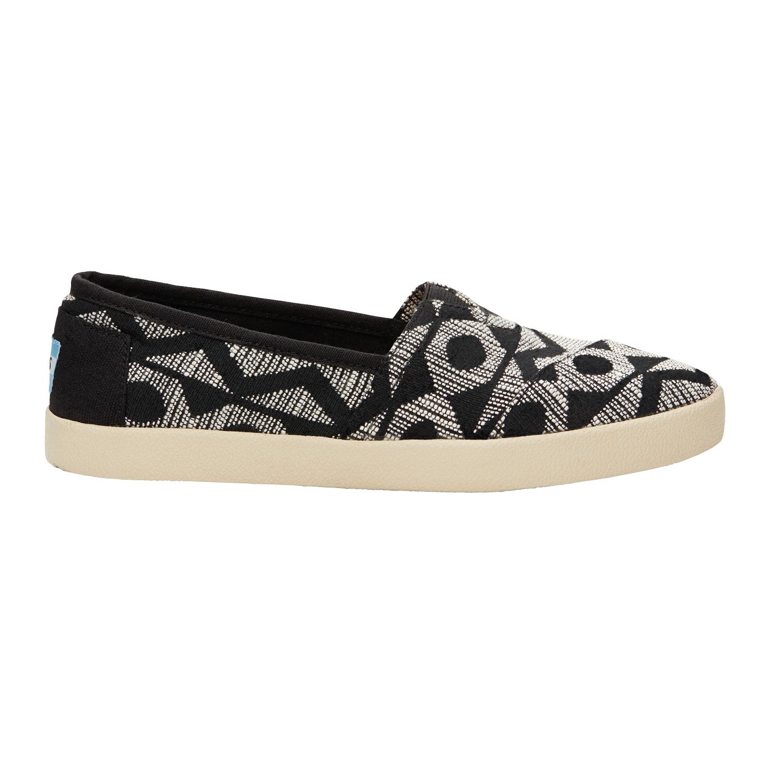 TOMS - Γυναικεία slip on παπούτσια TOMS μαύρα-γκρι