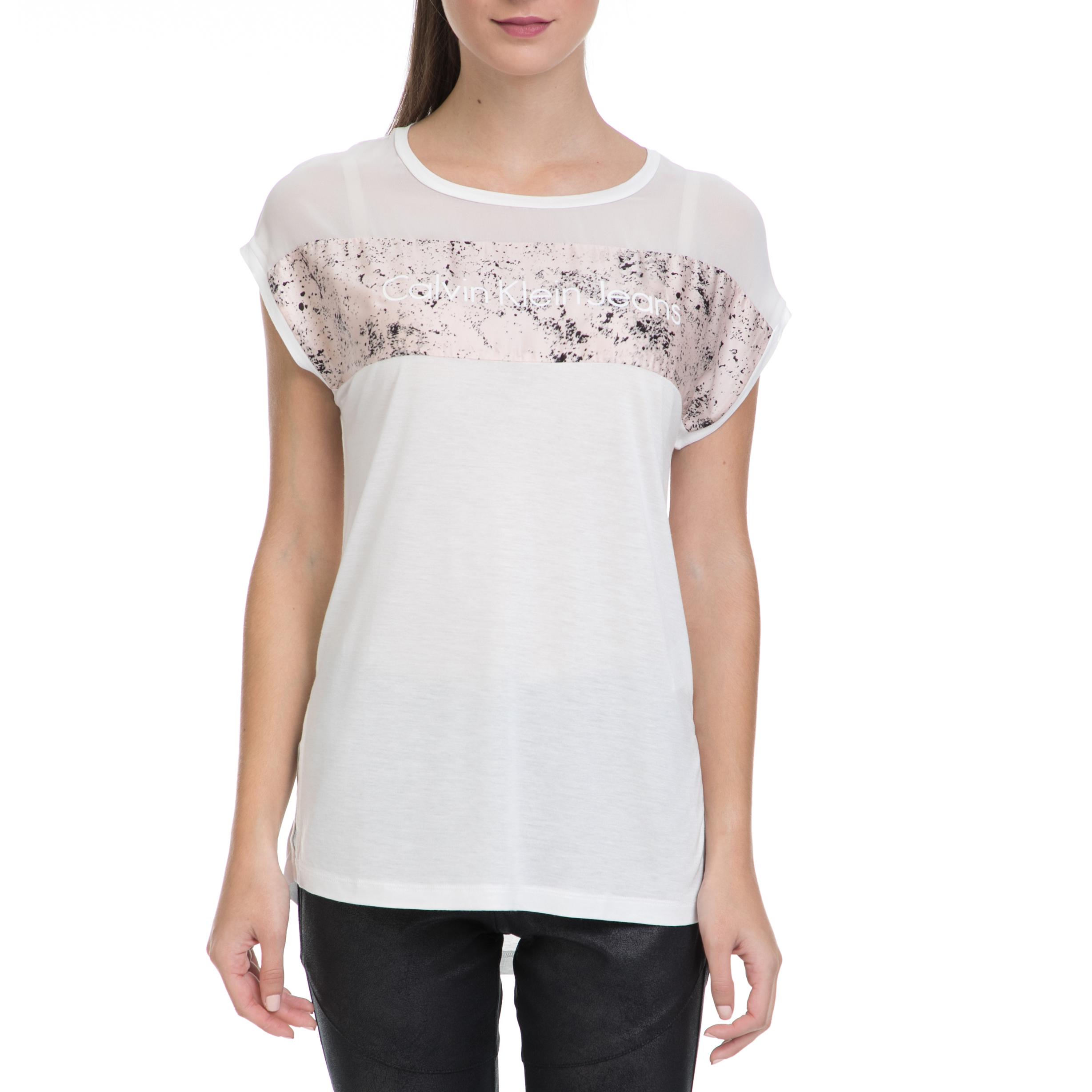 CALVIN KLEIN JEANS – Γυναικεία μπλούζα TIKA-31 CN LWK λευκή