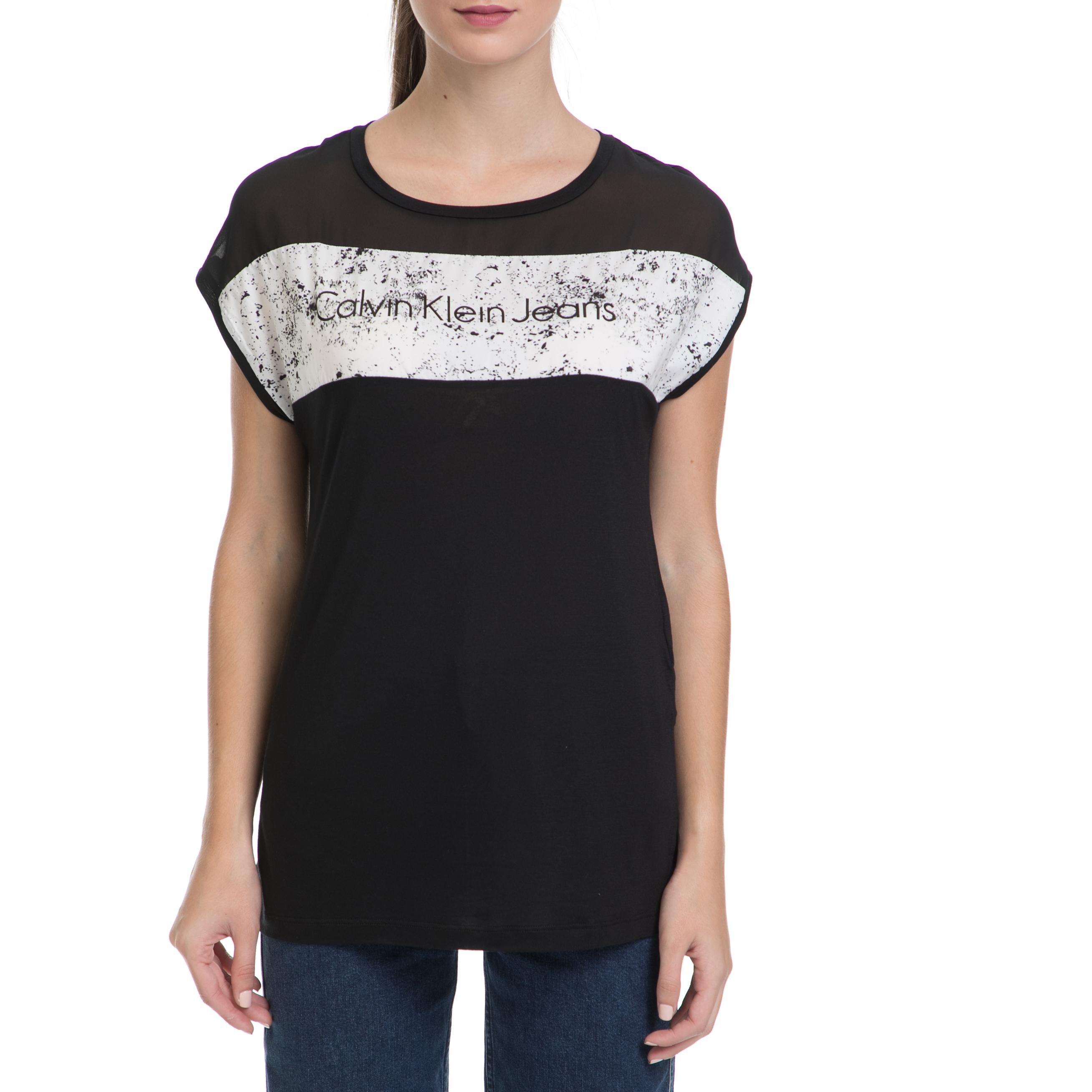 CALVIN KLEIN JEANS – Γυναικεία μπλούζα TIKA-31 CN LWK μαύρη