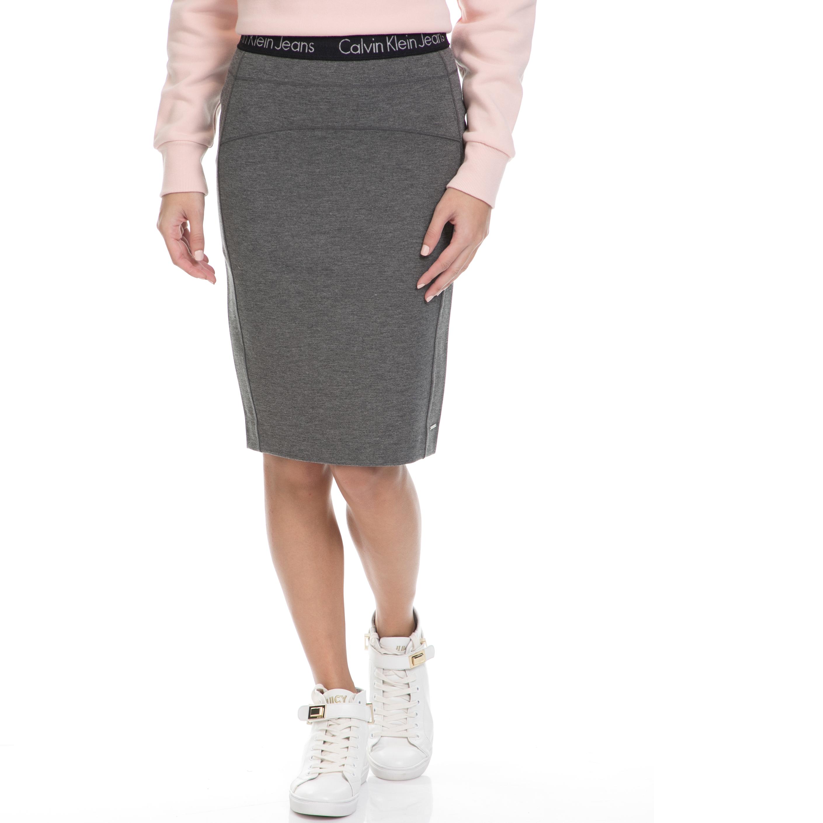CALVIN KLEIN JEANS – Γυναικεία φούστα KIRI HWK PUNTO γκρι