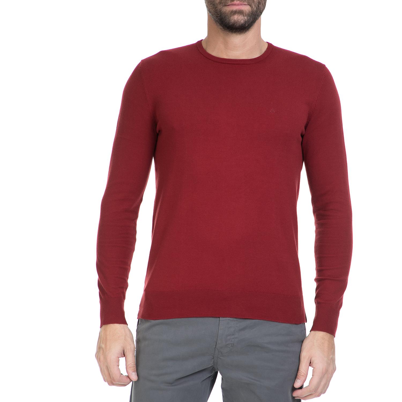 CALVIN KLEIN JEANS – Ανδρικό πουλόβερ STAG κόκκινο