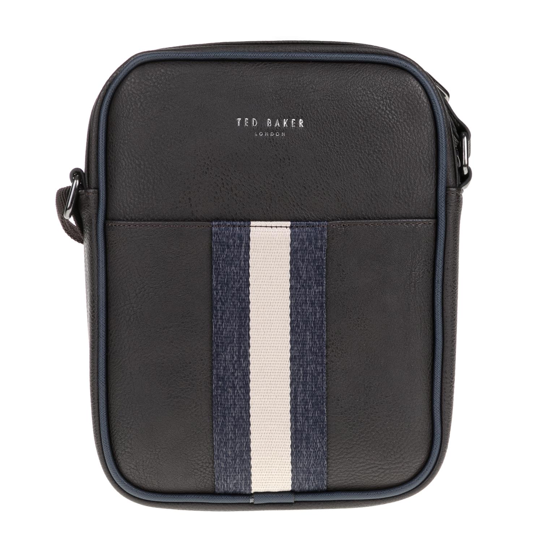 TED BAKER - Ανδρική τσάντα ώμου KONDOOR WEBBING TED BAKER καφέ ανδρικά αξεσουάρ τσάντες σακίδια ωμου