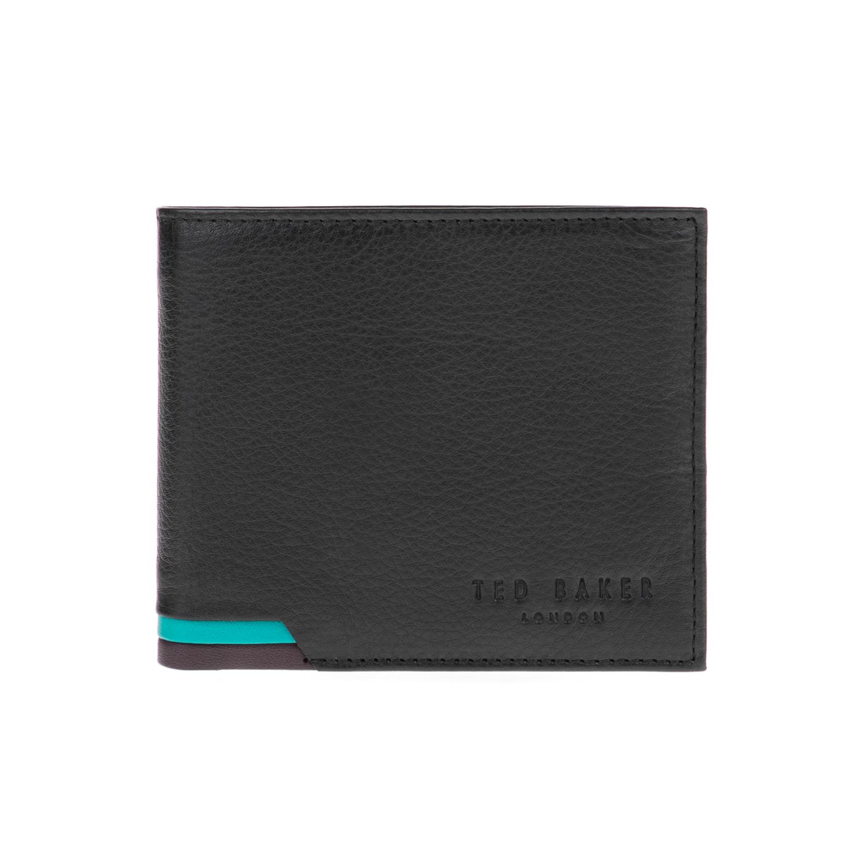 TED BAKER - Ανδρικό πορτοφόλι CORCOIN TED BAKER μαύρο ανδρικά αξεσουάρ πορτοφόλια μπρελόκ
