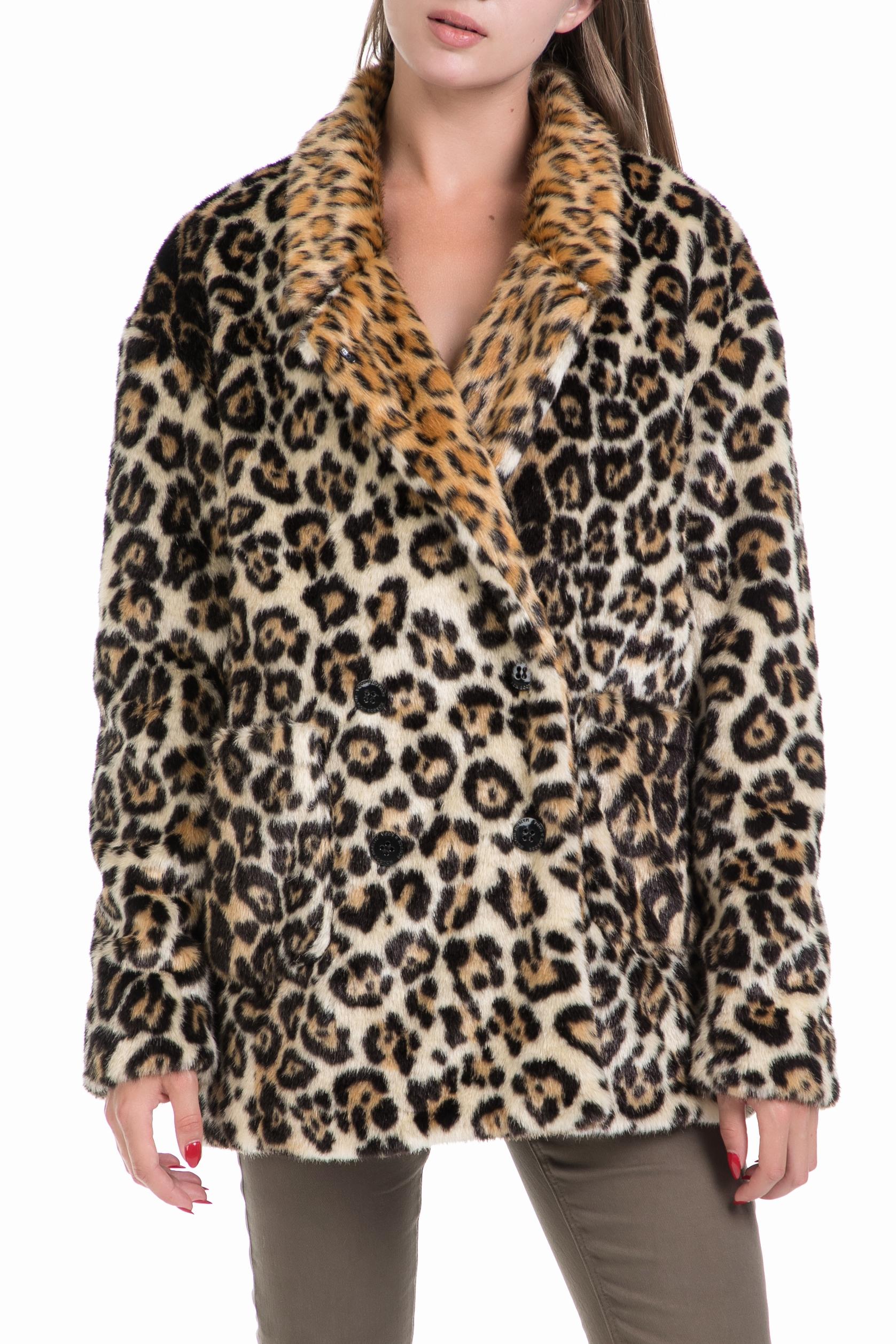 SCOTCH   SODA – Γυναικείο παλτό Maison Scotch λεοπάρ f80a433b64a