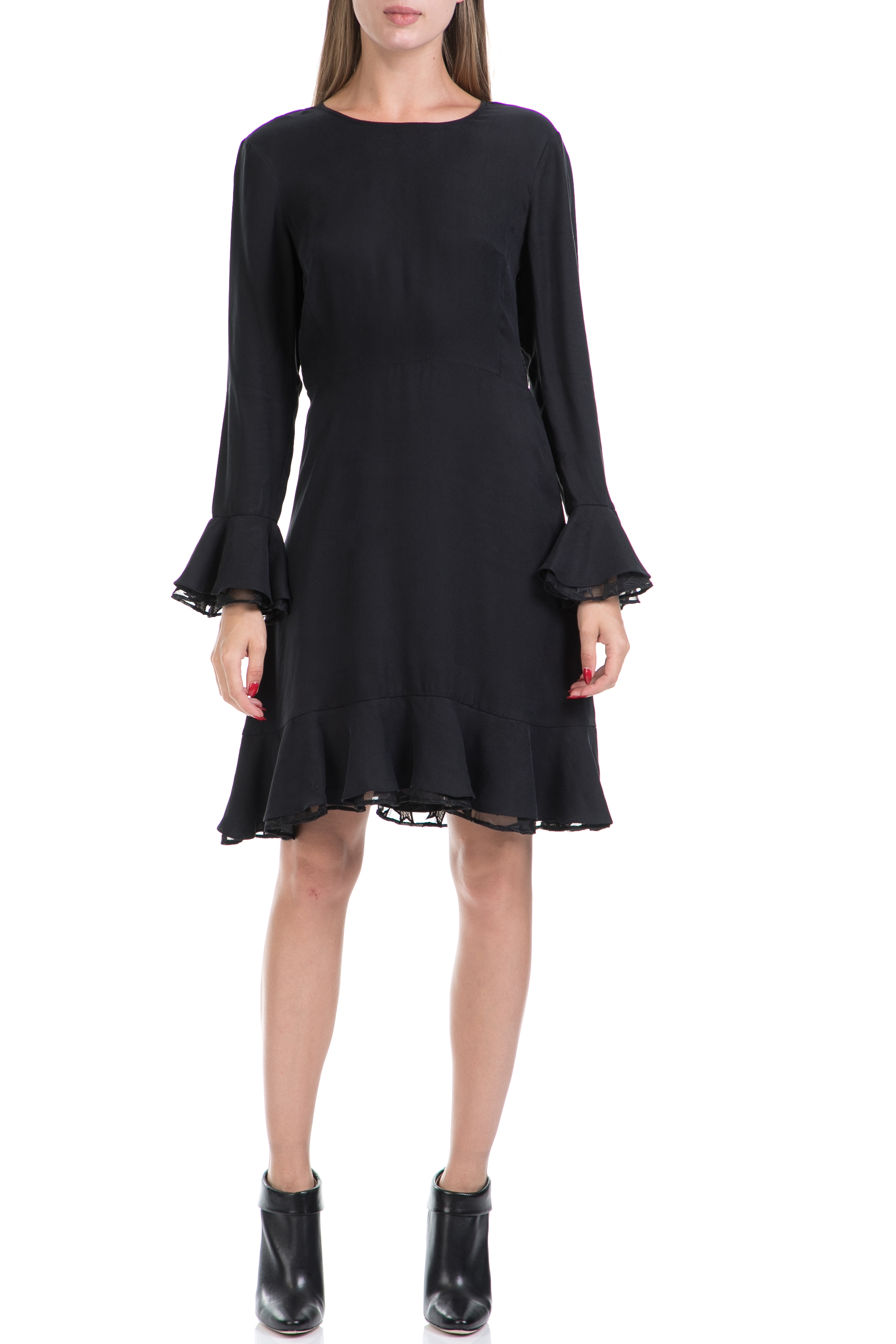dc7f371e248 SCOTCH & SODA - Γυναικείο φόρεμα MAISON SCOTCH μαύρο ⋆ pressmedoll.gr
