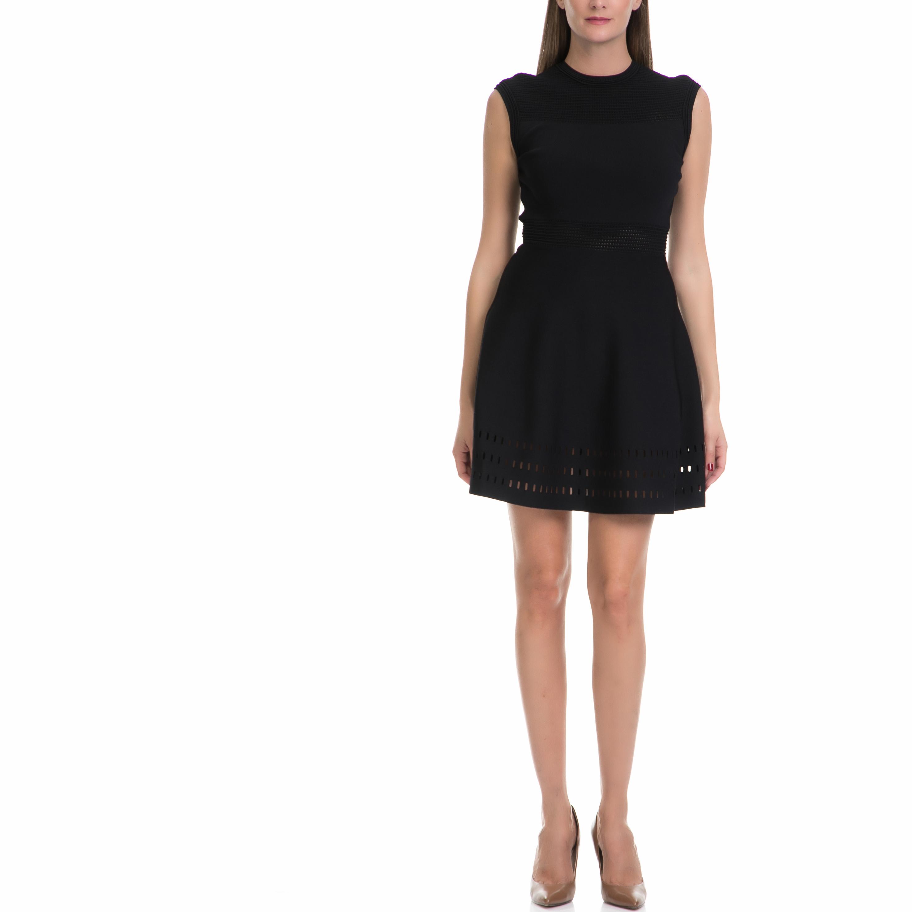 TED BAKER - Γυναικείο φόρεμα AURBRAY TED BAKER μαύρο γυναικεία ρούχα φορέματα μίνι