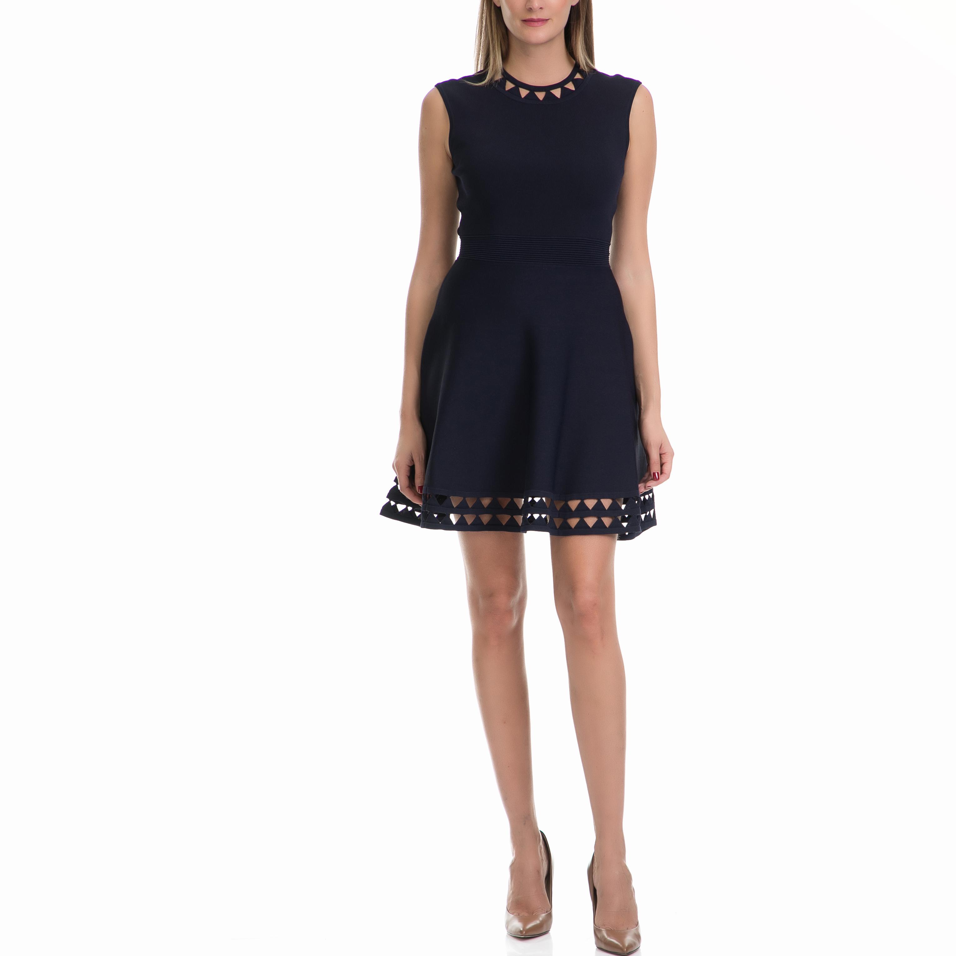 TED BAKER - Γυναικείο φόρεμα KATHRYN TED BAKER μπλε γυναικεία ρούχα φορέματα μίνι