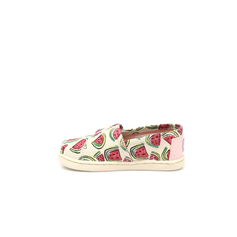 TOMS – Παιδικά slip on παπούτσια TOMS μπεζ-ροζ
