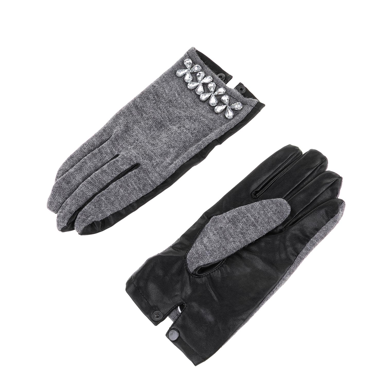 GUESS – Γυναικεία γάντια GUESS γκρι-μαύρα