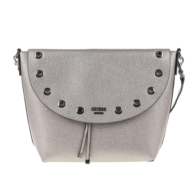 GUESS – Γυναικεία τσάντα ώμου BOBBI GUESS γκρι 1571266.0-0084