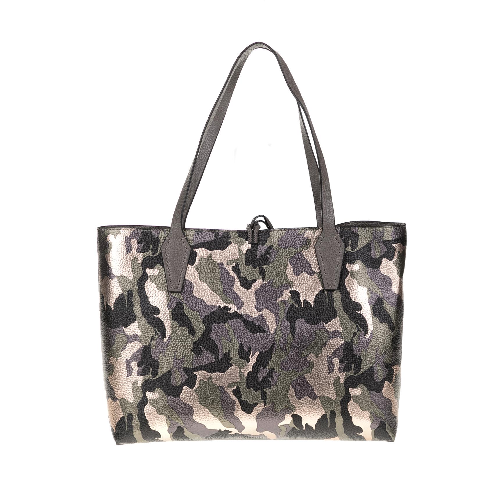 GUESS – Γυναικεία τσάντα ώμου GUESS BOBBI γκρι-χακί 1571311.0-8480