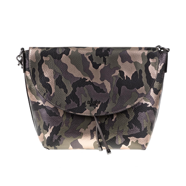 GUESS – Γυναικεία τσάντα ώμου BOBBI GUESS χακί-μοβ 1571312.0-8480