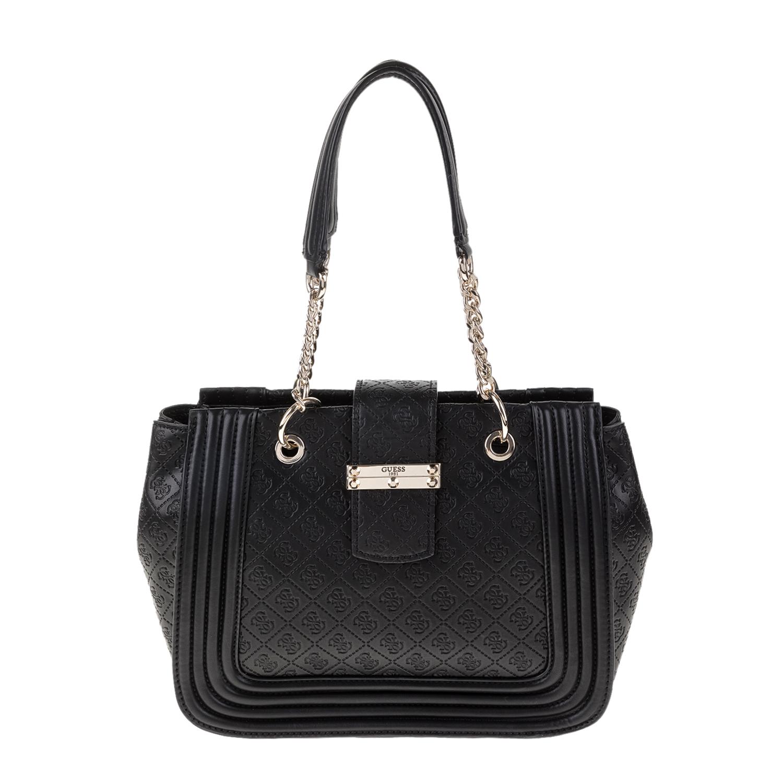 GUESS - Γυναικεία τσάντα ώμου LORIEN GUESS μαύρη 3f220d2d56d