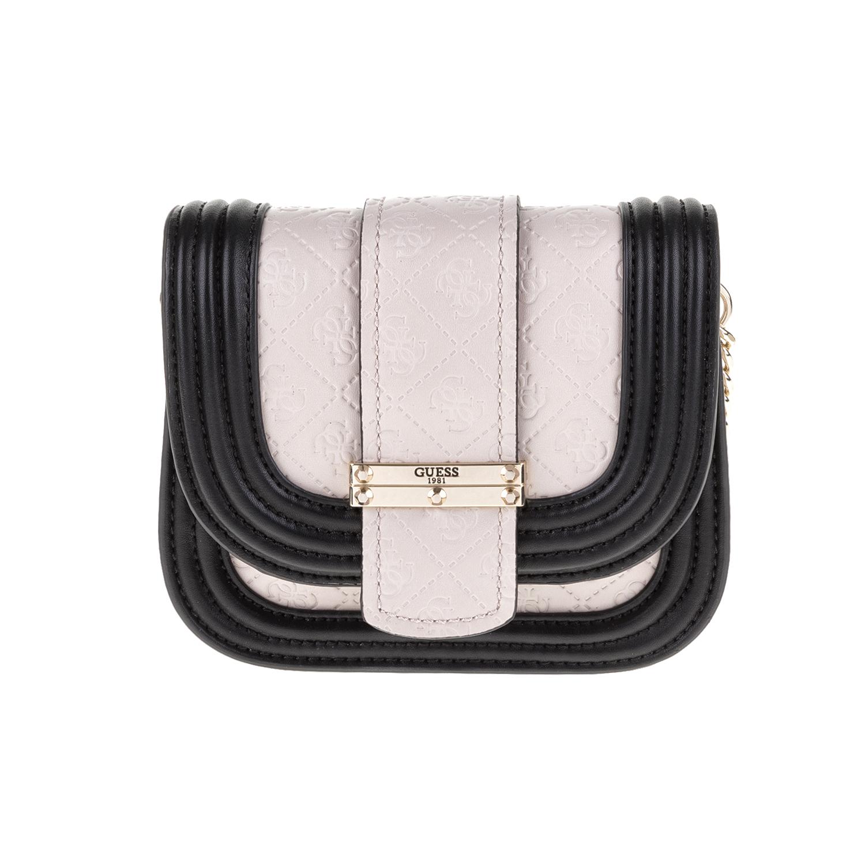 GUESS – Γυναικεία τσάντα LORIEN GUESS γκρι-μαύρη 1571392.0-0086