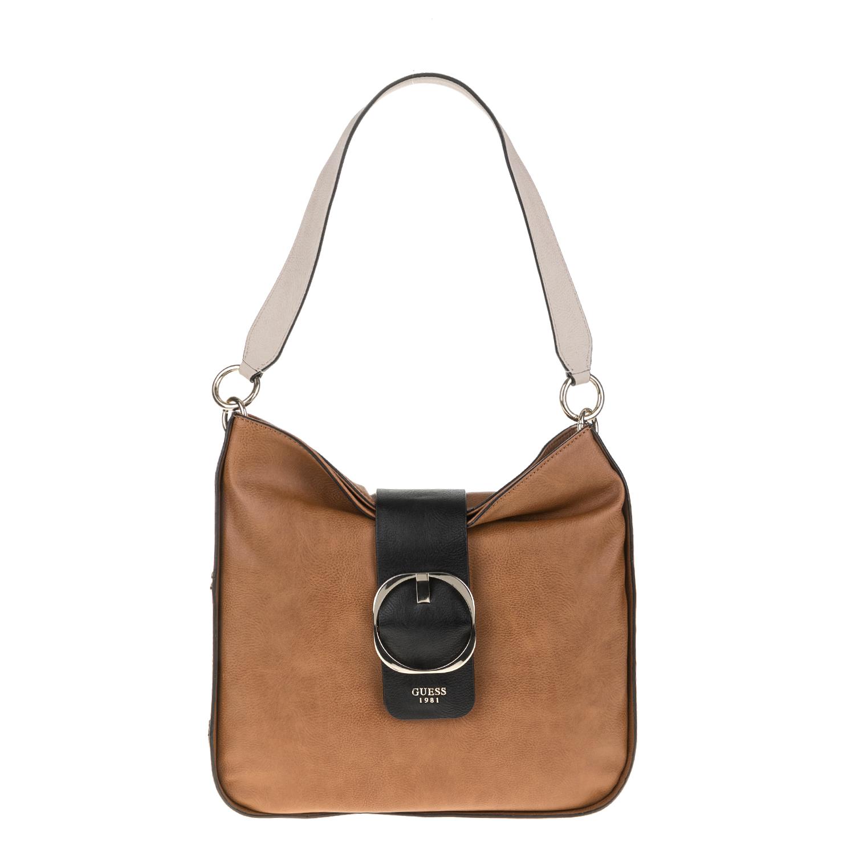 GUESS – Γυναικέια τσάντα GUESS MOONEY HOBO καφέ