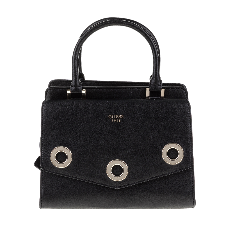 GUESS – Γυναικεία τσάντα χειρός DINAH SATCHEL μαύρη 1571445.0-0071