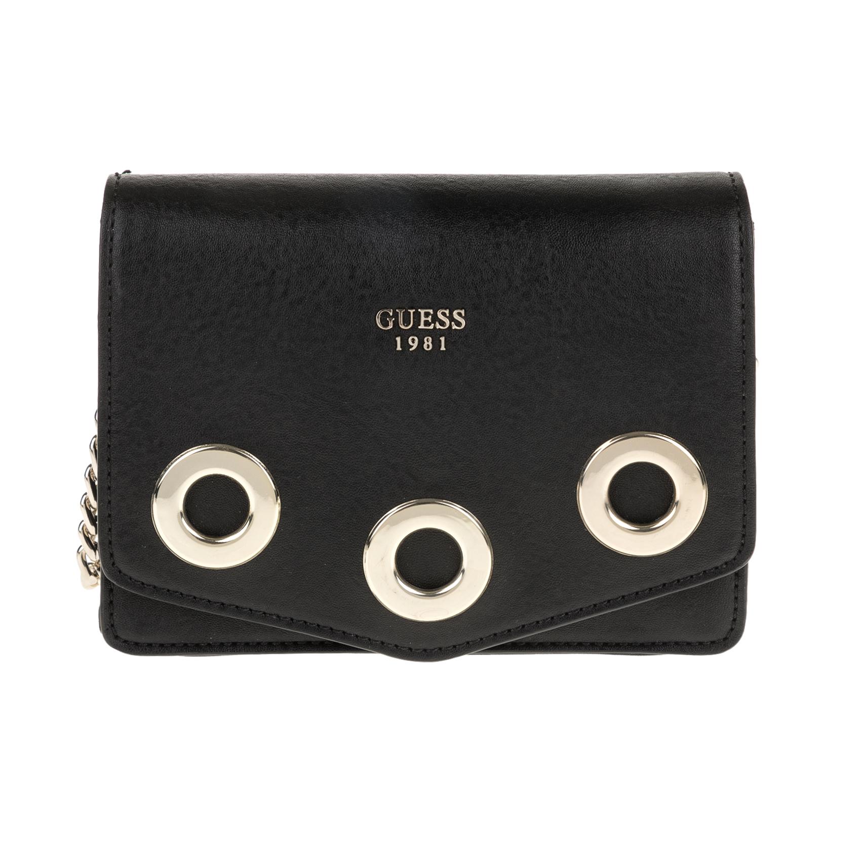 GUESS – Γυναικεία τσάντα ώμου Guess DINAH CROSSBODY MESSENGER μαύρη 1571448.0-0071