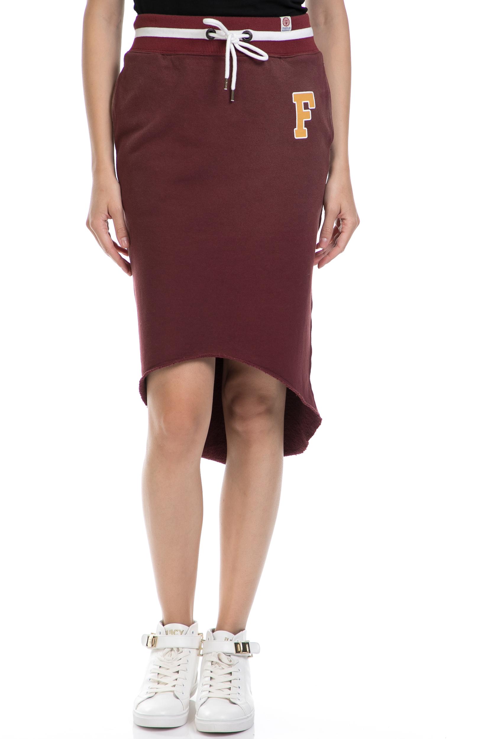 FRANKLIN & MARSHALL – Γυναικεία φούστα FRANKLIN & MARSHALL μπορντώ