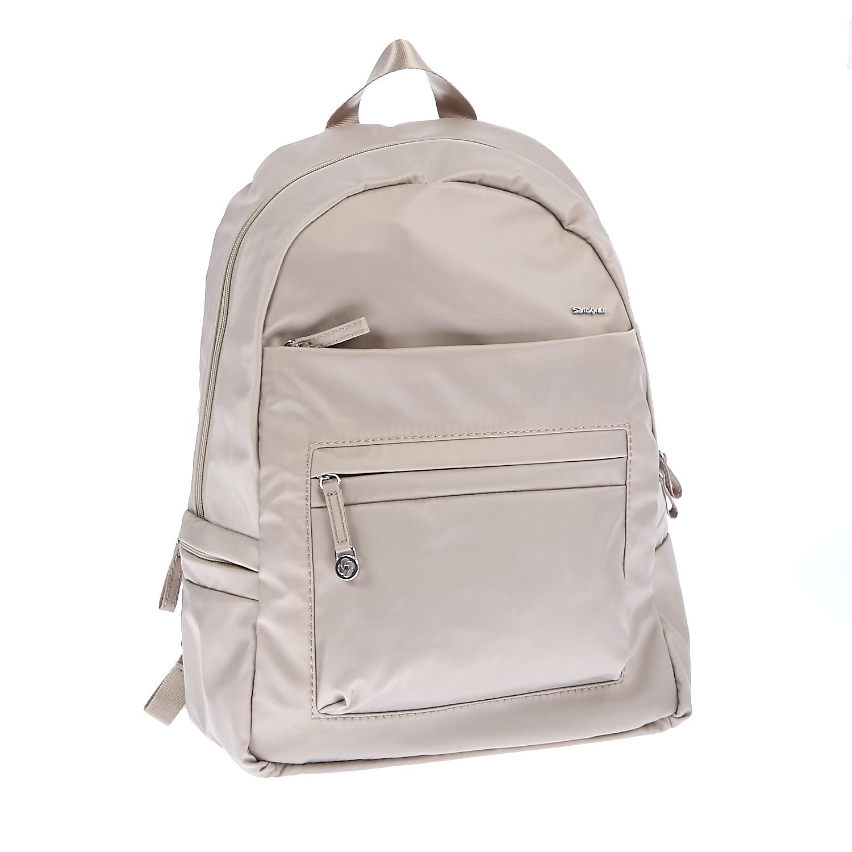 SAMSONITE (TRAVEL) - Τσάντα πλάτης Samsonite μπεζ γυναικεία αξεσουάρ τσάντες σακίδια πλάτης