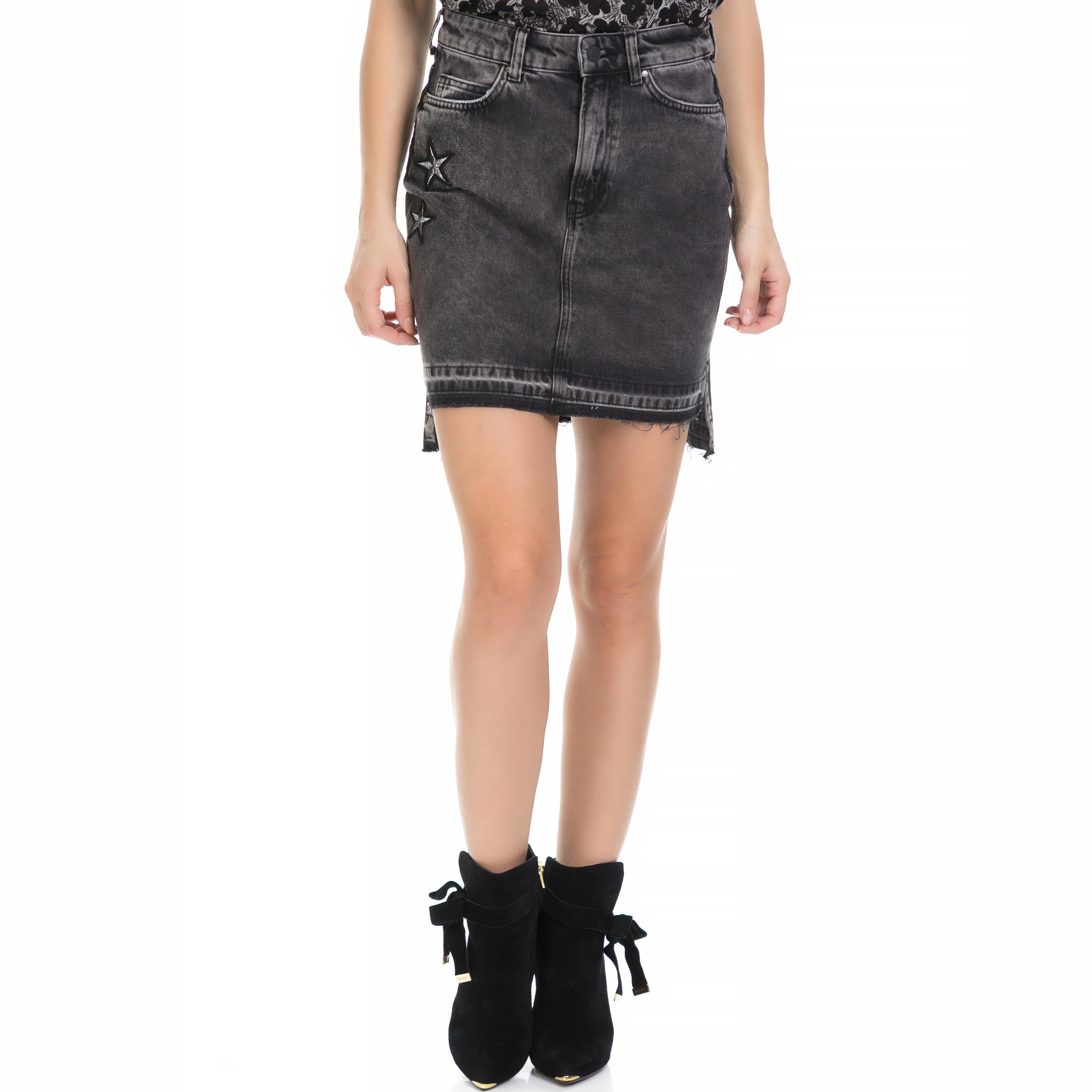 GUESS – Γυναικεία τζιν φούστα KARIN GUESS γκρι