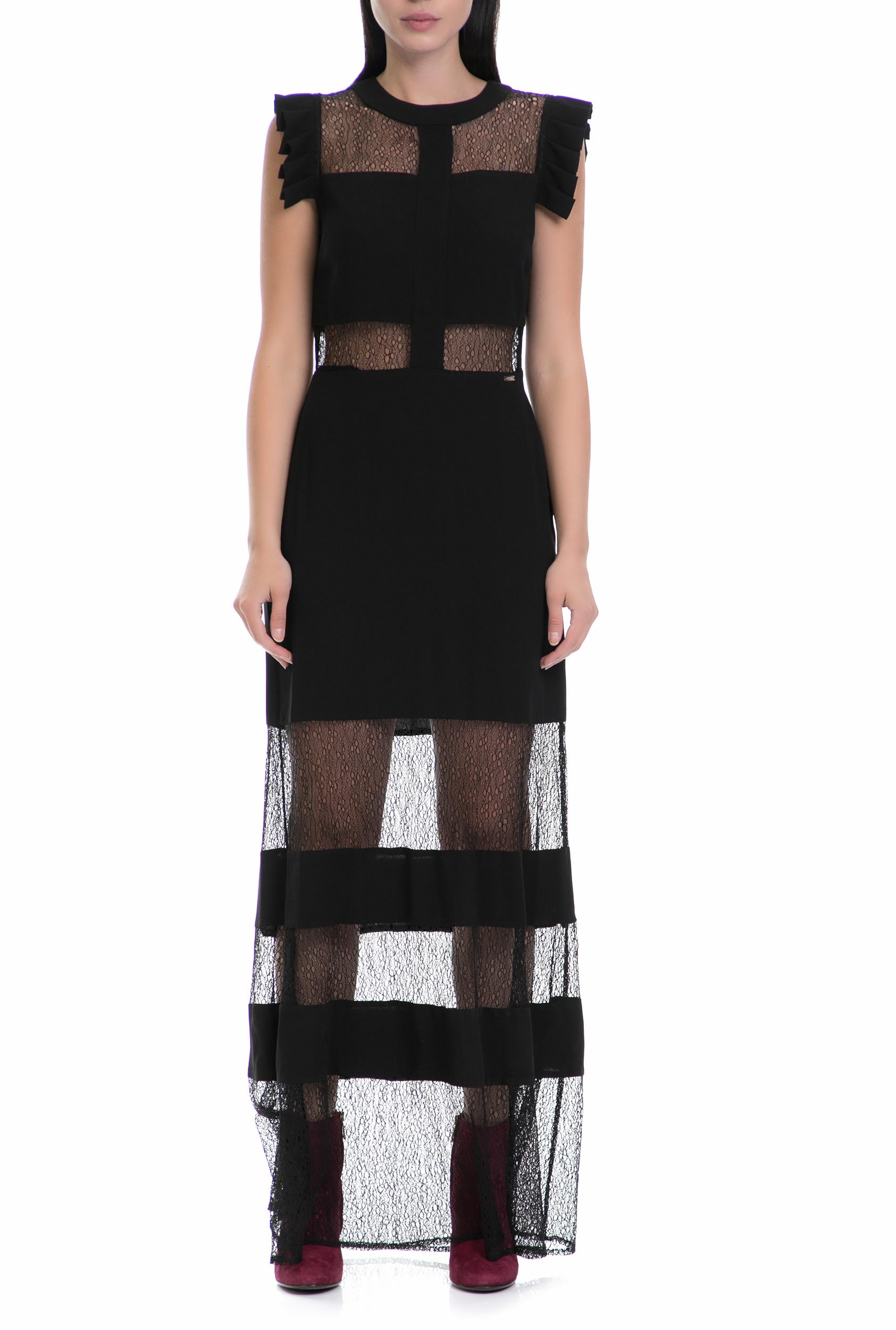 GUESS - Γυναικείο φόρεμα LIZZY GUESS μαύρο γυναικεία ρούχα φορέματα μάξι