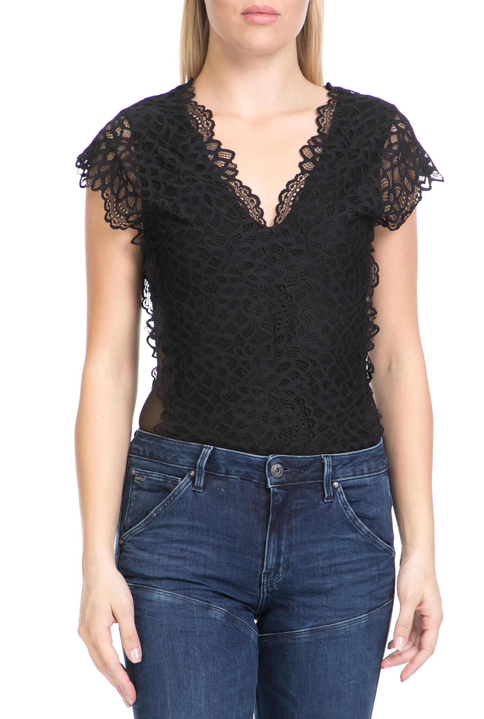 GUESS - Γυναικείο body VANIA GUESS μαύρο γυναικεία ρούχα εσώρουχα κορμάκια