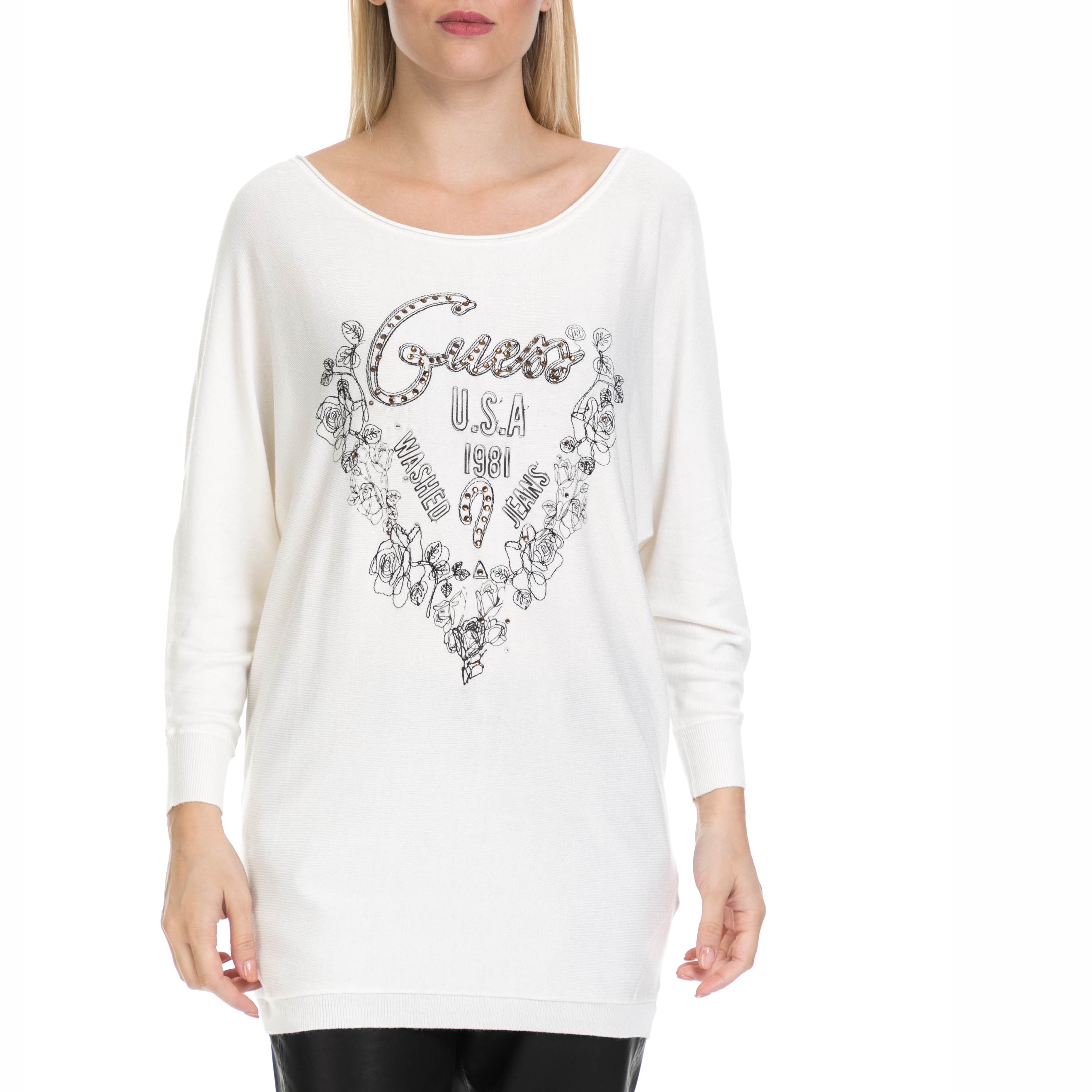 84a014f4eebf GUESS - Γυναικεία μπλούζα LEA GUESS λευκή ⋆ egynaika.gr