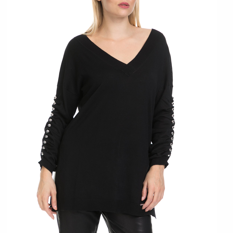 GUESS - Γυναικείο πουλόβερ OLGA GUESS μαύρο γυναικεία ρούχα πλεκτά ζακέτες πουλόβερ